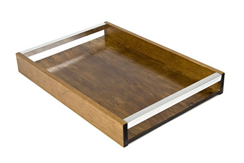 WOODART Wooden Serving Tray W/ Handles, Decorative Tray, Serving Platter for Tea Coffee Wine, Premium Quality, Eco-friendly,