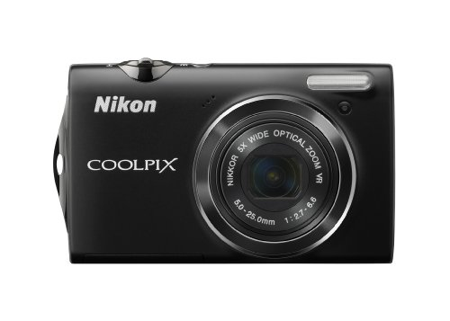 Nikon Coolpix S5100 12 MP Digital Camera with 5x Optical Vibration Reduction (VR) Zoom and 2.7-Inch LCD (Black) ()