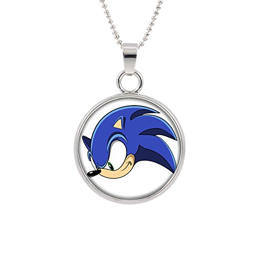 Sonic the Hedgehog Pendant Necklace Character Cartoon Superhero Gaming Console PC Games Logo Theme Cosplay Premium Quality Detailed Jewelry Gift Series