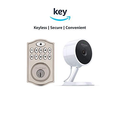 Kwikset SmartCode 914 Keypad Smart Lock Amazon Cloud Cam Key Smart Lock Kit Nickel