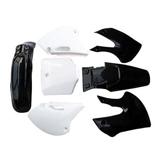 JCMOTO Motorcycle Dirt Bike Body Plastic Fender For SSR Coolster BBR Various Colors (4 black&3 white)