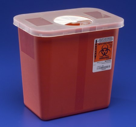 Kendall Sharps Container with Rotor Lid - 2 Gallon - 1/Box of 10 by COVIDIEN