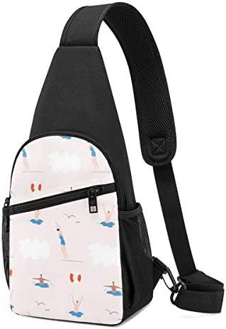 ボディ肩掛け 斜め掛け 水泳 ショルダーバッグ ワンショルダーバッグ メンズ 軽量 大容量 多機能レジャーバックパック