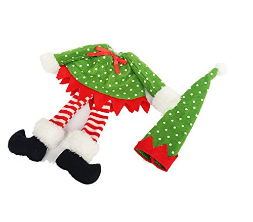 Christmas accessories decoration at the table Wine glass cover Great for Gifts These decorations are a great way to decorate your gift and definitely impress the person receiving