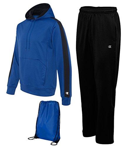 Champion Men's Performance Sweatsuit, Large, Athletic Royal/Black (Men Champion Sweatsuits compare prices)