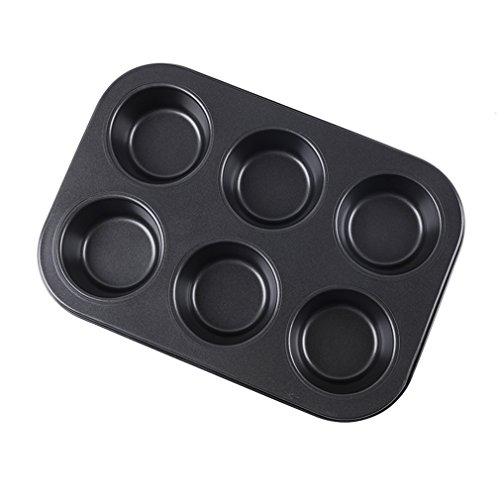 SHEbaking 6 Cup Professional Regular Nonstick Muffin Pan Carbon Steel Bakeware Mold (2) by SHEbaking (Image #3)