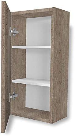 Aleghe Complemento Madera Mueble Auxiliar de baño, Canela, 36.00x22.00x70.00 cm: Amazon.es: Hogar