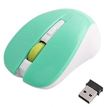 DealMux PC sin hilos del ordenador portátil LED rojo ratones ópticos del móvil Verde Blanco: Amazon.es: Electrónica