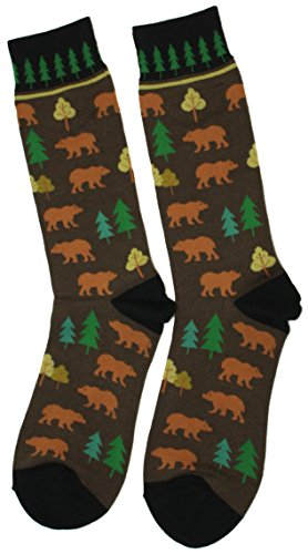 Foot Traffic - Urban Beat The Great Outdoors Statement Socks - Bears and Trees made our list of Unique Camping Gifts For Men