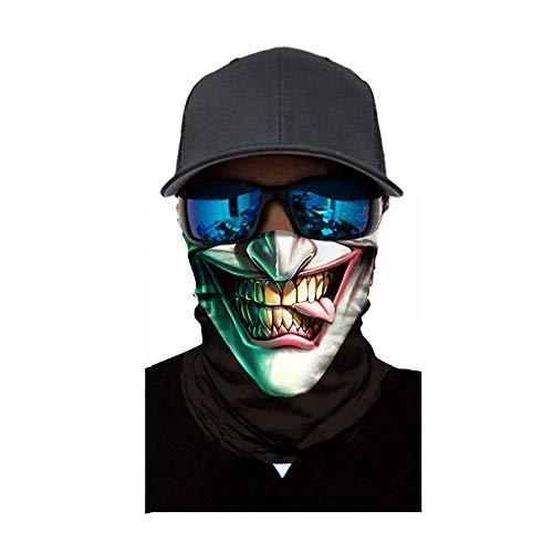 Sunshinehomely Halloween Skull Print Headkerchief, Cycling Motorcycle Neck Tube Ski Scarf Face Mask Balaclava Halloween Party (C) for $<!--$3.29-->