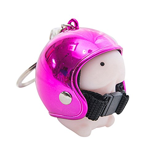 Dingding Toy Helmet Cute Keychain Squeeze Stress Reliever Prank Toy PK