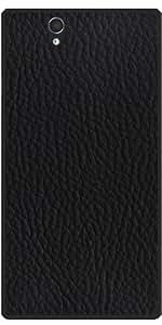 Funda para Sony Xperia Z (l36h) - Imitación De Cuero Negro