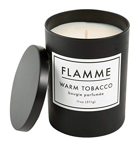 Flamme Candle Company Tobacco & Vanilla Scented Jar Candle :: 11 Oz., Soy Wax