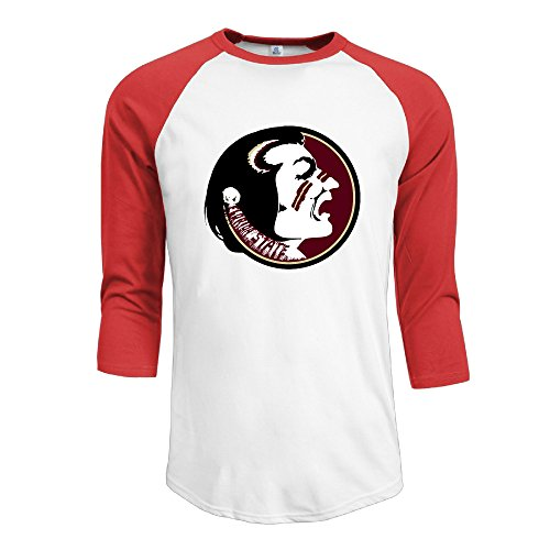 Man Florida State Seminoles Football Jimbo Fisher 3/4 Raglan Shirts Baseball Jerseys