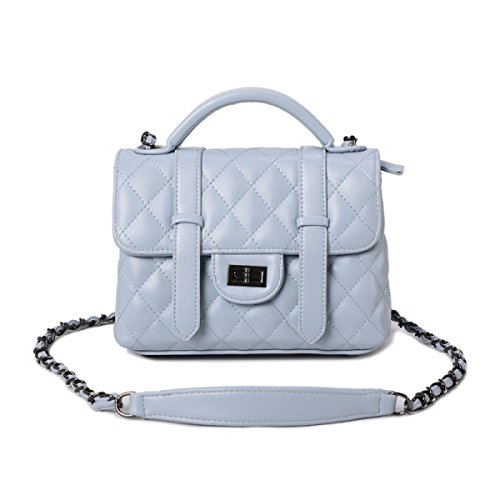 Bolsos Nuevo Messenger Bag Versión Coreana Simple Lingge Paquete De La Cadena Salvaje Moda Personalidad Bolsa De Hombro Skyblue