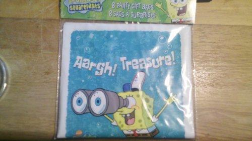SpongeBob SquarePants Party Bags 8 count (Loot Bags)
