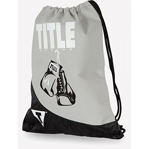 TITLE Boxing Gym Sack Pack, Silver/Black