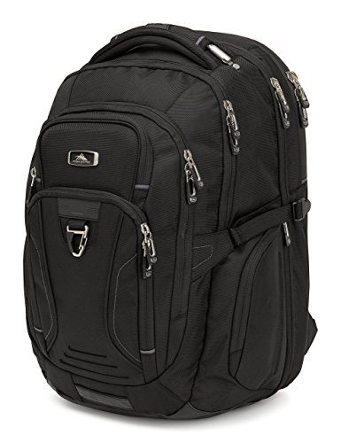High Sierra Endeavor Business TSA Elite Backpack, Black by High Sierra