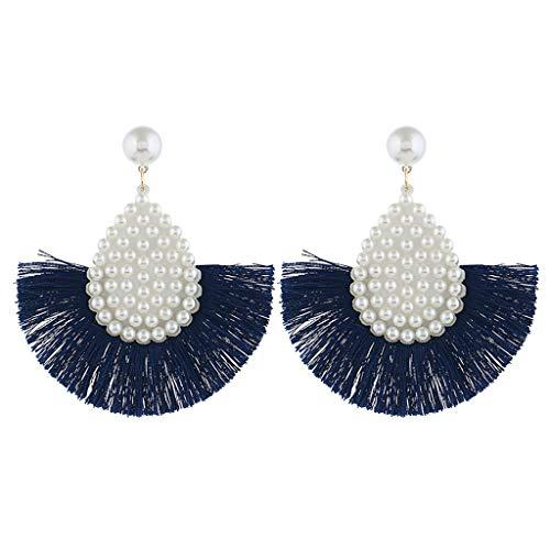 - Transser Handmade Layered Tassel Earrings Bohemian Dangle Drop Tiered Tassel Earrings