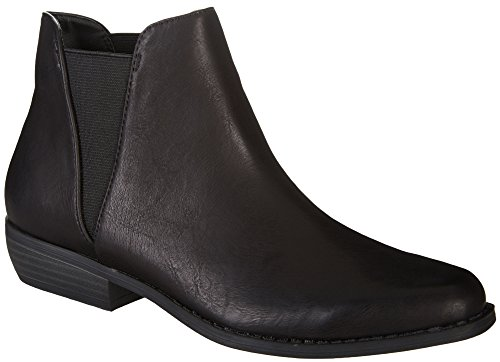 Rampage Women's Leesa Ankle Boot, Black, 9 Medium US