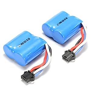 ACHICOO UDI 2 Pieces Replacement Battery for UDI RC UDI001 Venom Speed Boat 3.7V 600mAh Li-ion Eid Gifts for Kids 41TxwzO 2B06L