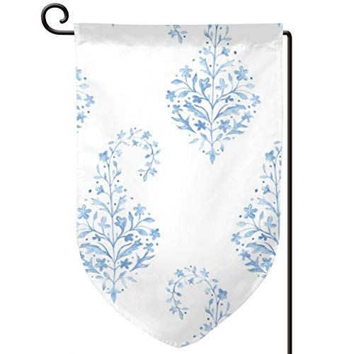 - familygam Garden Flag Summer,Painted Paisley in Blue_1238,12.5 x 18 Inch