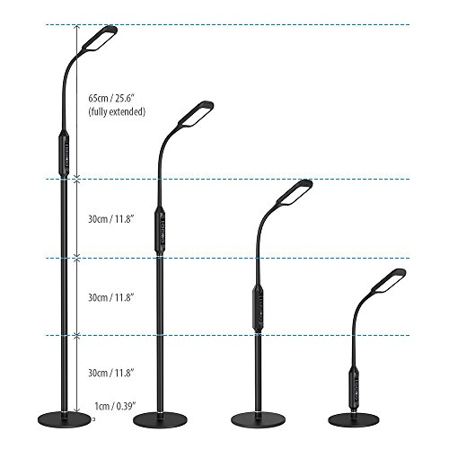 TROND LED Gooseneck Floor Lamp For Reading, Crafts, Crocheting, Knitting Or  Sewing (5 Color Temperatures, ...