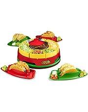 Nostalgia TTWMLSTB6 Lazy Susan Bar Perfect for Tacos, Burritos, Nachos, Fajitas, 20-Oz. Warming Pot