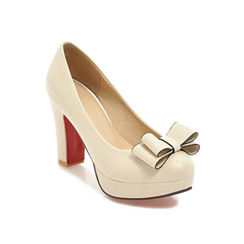603679ec66a MEI S Las Mujeres del Bloque Talón Talones Cabeza Redonda Boca Superficial  Zapatos 60% de descuento