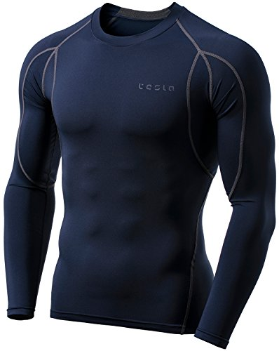 Performance Team Warm Up Pant - Tesla TM-MUD11-NVY_X-Large Men's Long Sleeve T-Shirt Baselayer Cool Dry Compression Top MUD11