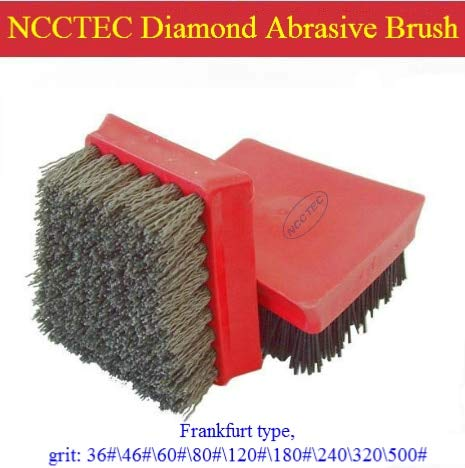 Anncus Frankfurt Diamond Abrasive Brush | Horseshoe Type Antique Renovation Brush for Granite Sandstone | Many grit
