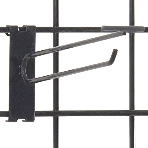 KC Store Fixtures A04757 Gridwall Scanner Hook, 8'', Black (Pack of 100) by KCF (Image #1)