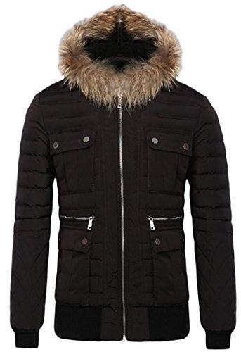 M Mens W Del Bavero Di Eco Parka 1 Manica Outwear Lunga amp; pelliccia Cappuccio Con Cappotto amp; S wrIrqA