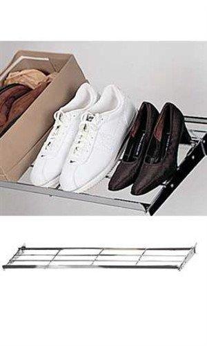 New Retails Chrome Adjustable Wire Shoe Shelf 14â€W x 47½â€L