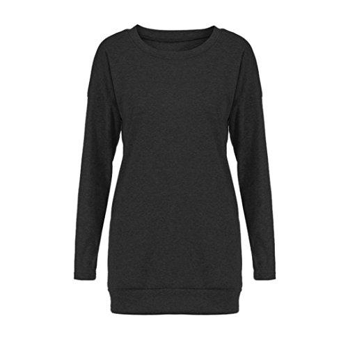 Women-Tops-Gillberry-Womens-Cotton-Long-Sleeve-Round-Neck-Splice-Shirt-Blouse-Tops-T-Shirt