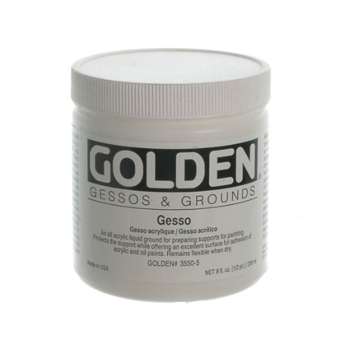 Golden Acrylic Gesso - 8 oz Jar by Golden Artist Colors