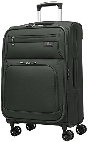 Inch 4 Wheel Expandable Carry On, Black, One Size ()