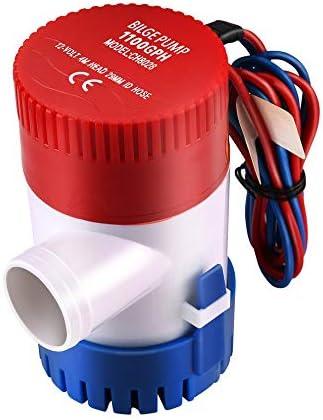 Mouchao 12V Vacuum Water Pump Submersible Marine Boat Bilge Pump 1100GPH Water Pump
