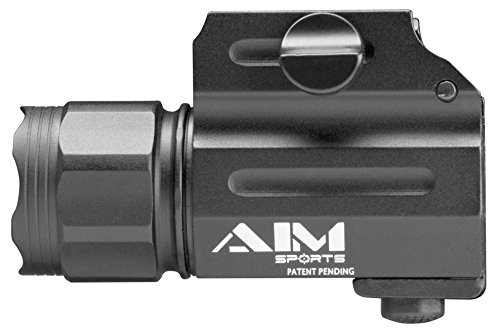 AIM Sports FQ330C Weapons Flashlight, Black, Compact, Clear