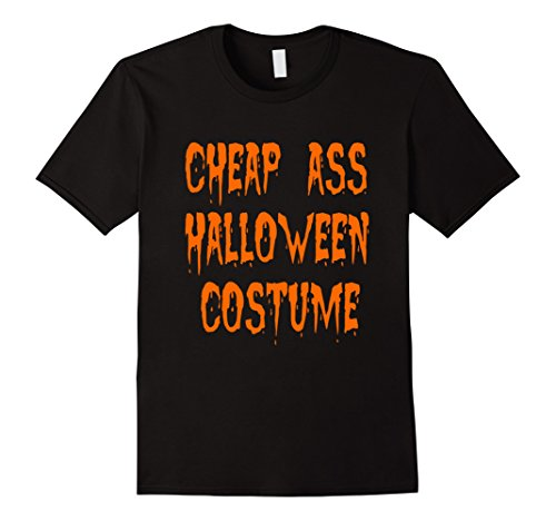 Men's Cheap Ass Halloween Costume T-shirt  Large Black (Cheap Halloween Costumes Male)