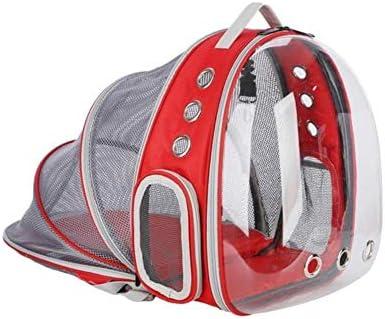 Linwei Portable Pet Cat Backpack Foldable Multi-Function Pet Dog Carrier Bag Large Space Capsule Bubble Shoulder Pet Backpack,Red: Amazon.es: Hogar