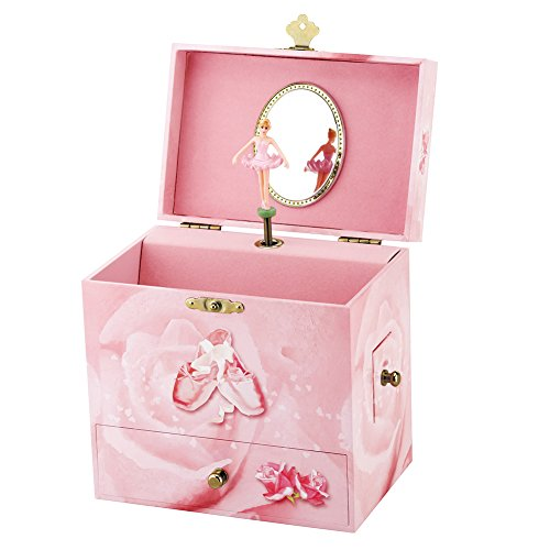 Round Rich Musical Jewelry box - Musical Storage Box a twirling ballerina figurine - Swan lake Tune by Round Rich (Image #4)