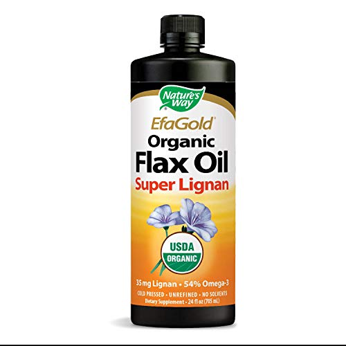 Nature's Way EfaGold Organic Flax Oil Super Lignan, 24 Ounce