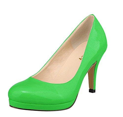 Ol Moyen Confort Femme 40 Vert Talon 5 Vernis Taille 42 Classique Wealsex Escarpins Grande Cm 41 wxq8HIC0n