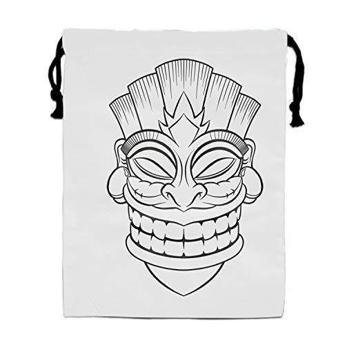 Price comparison product image Tiki Mask Drawstring Shoe Bags for Travel,  Multi-color Storage Organizer Pouch for Men Women