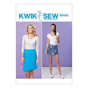 KwikSew Damen Schnittmuster 4161 Form Overlay Skort & Rock: Kerstin ...
