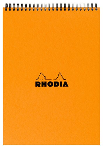 Rhodia Wire - Rhodia Wirebound Pad - A4 (8.25 x 11.75 inches) - Grid, Orange