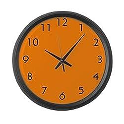 CafePress - Large Orange Wall Clock - Large 17 Round Wall Clock, Unique Decorative Clock