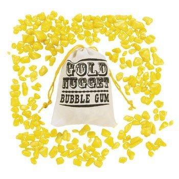 Gold Nugget Bubble Gum - Candy & Gum (12 pack) net wt : 24 oz. -
