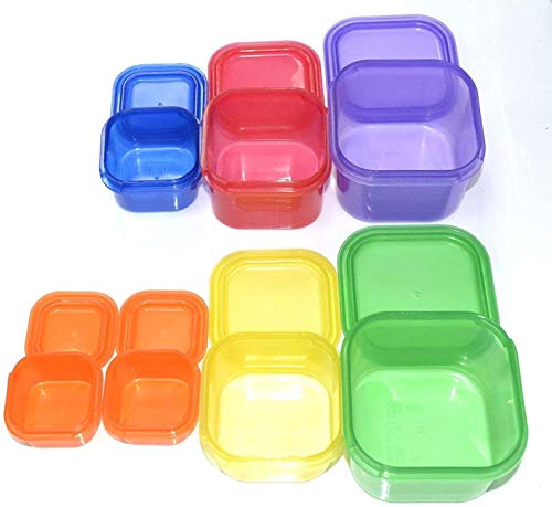 7 PIECE PORTION CONTROL CONTAINER SET – Portion control containers for weight loss – Portion control kit for diet meal…